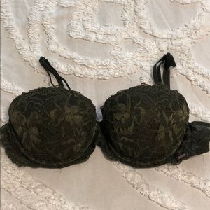 Olive Green Lace Bra